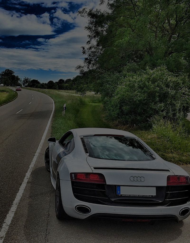 Audi R8 on country road