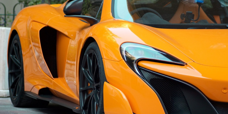 Orange McLaren Ceramic Pro clear bra service